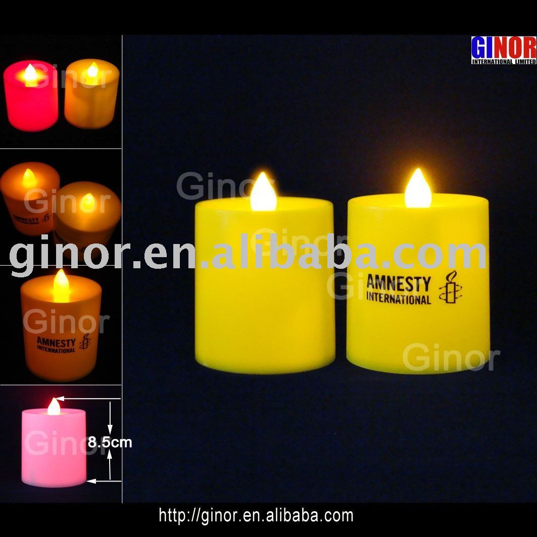 led flashing candle for promotion