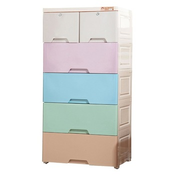 Large Capacity Baby Plastic Drawer Clothes Cupboard Design