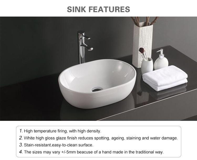 Nieuwe model ovale lavabo washroom art wastafel keramische