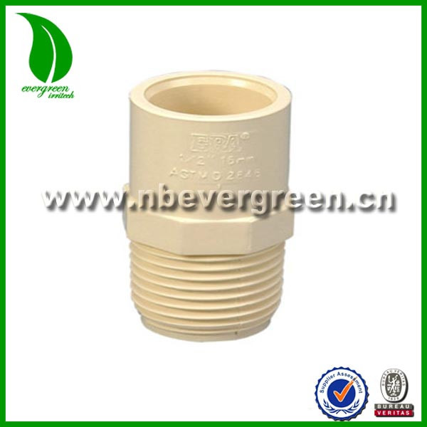 Superior quality male thread PVC adaptor for water supply pipe
