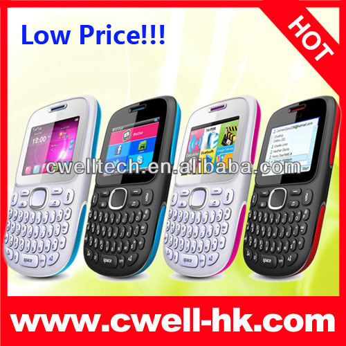 C101 Cheap China Mobile Phone with Qwenty Keyboard, Dual SIM Card, Analog TV and Camera