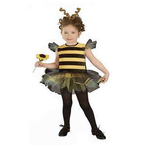 Hot sale cute girls halloween costume animal child bee costumes for kids