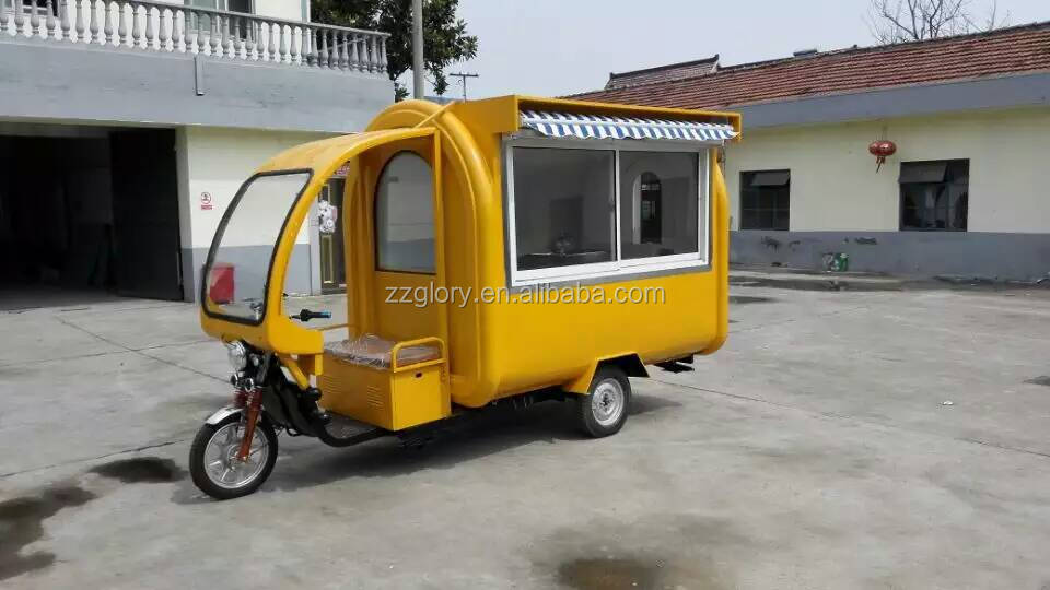 European Quality Chinese Price Mobile Tricycle Food Cart
