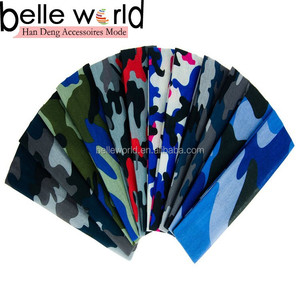 printing camo cotton lycra headband for yoga