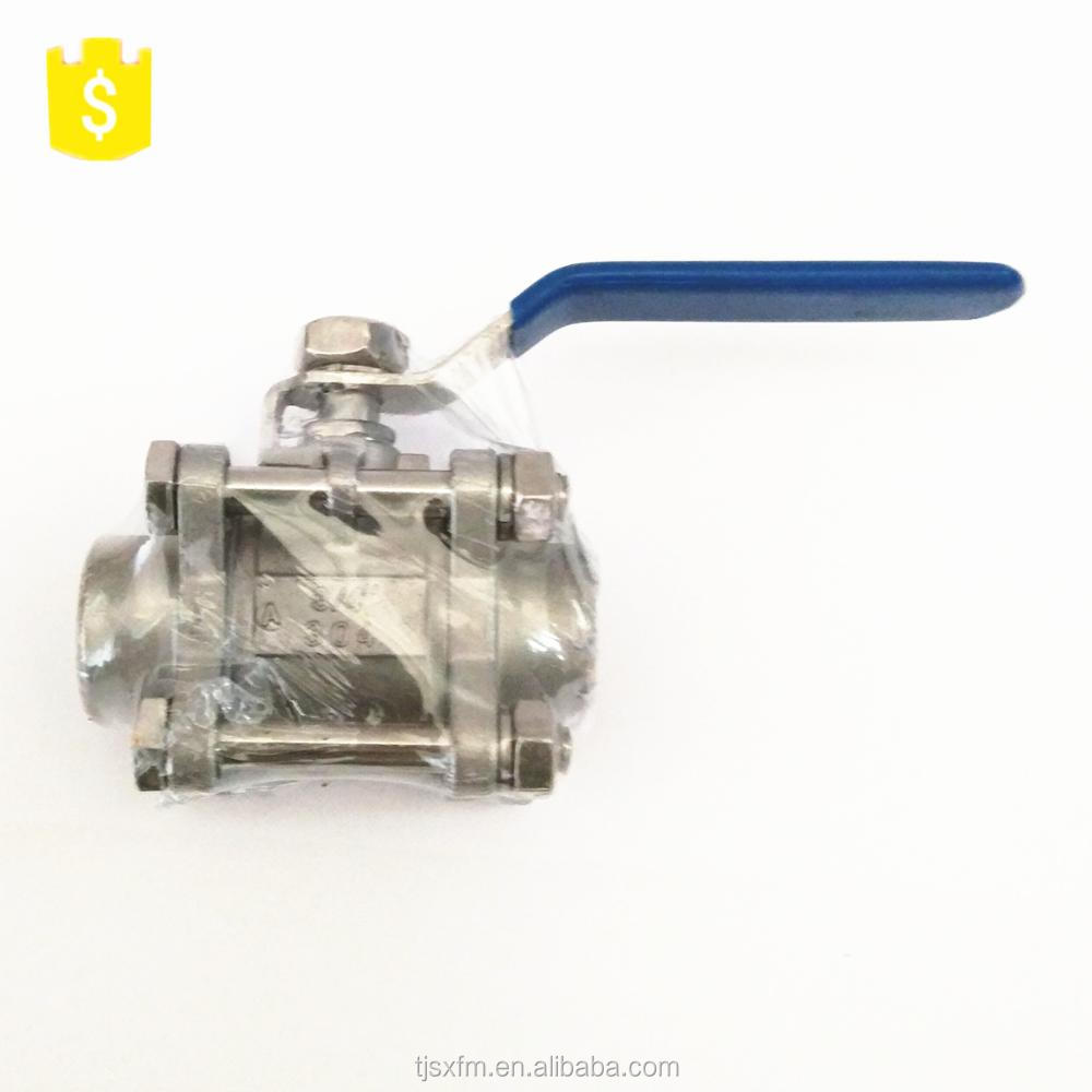 Ruili is the most popular 304 stainless steel 3PC welding ball valve DN20