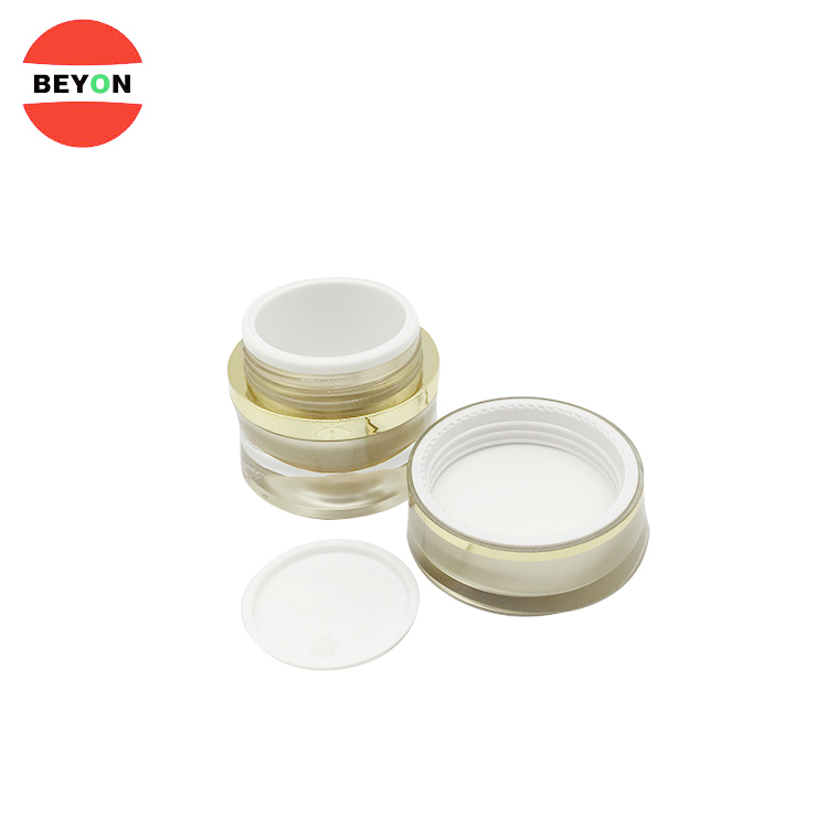 Custom Acrylic Luxury Cosmetic Containers Face Cream Jar