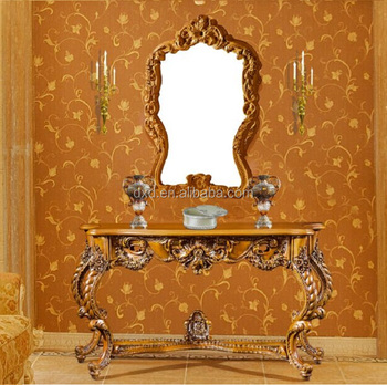 European Royal Furniture French Style  Baroque Style Console Table