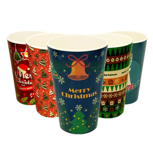 Christmas gift cup colorful Eco friendly coffee mug biodegradable tumbler with straw