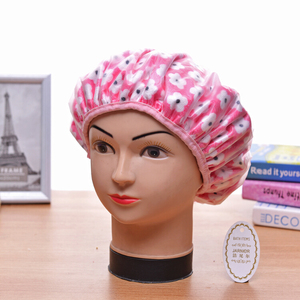 Beautiful design shower cap for lady and girl
