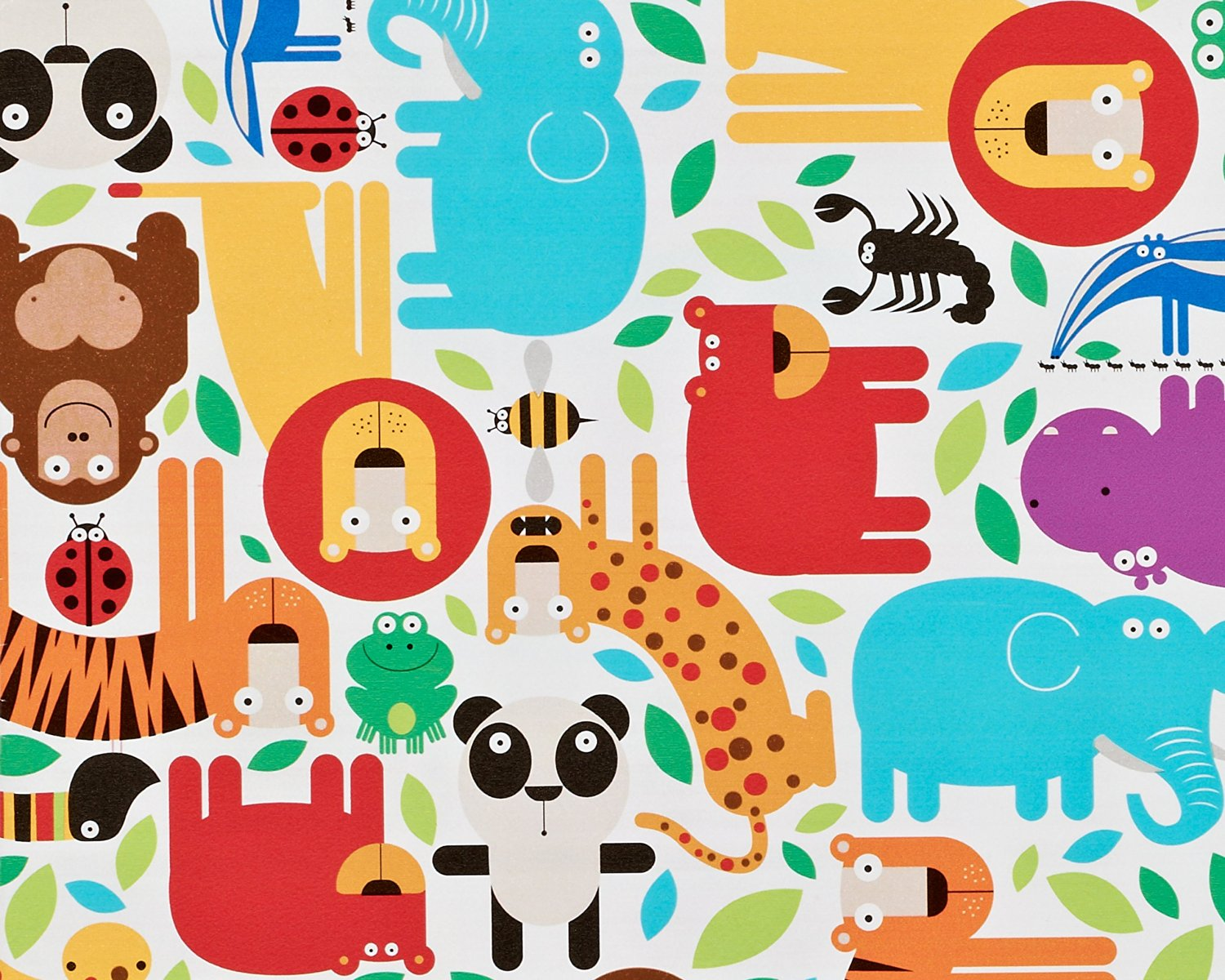 Buy American Greetings Paper Gift Wrap For Kids Jungle Animals