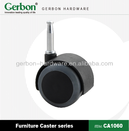 socket stem furniture caster with hood