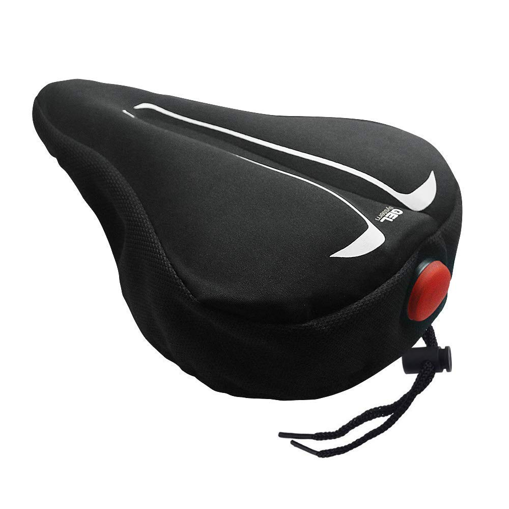 BestFire® Gel Bike Seat Cover Soft Padded Bicycle Seat Cover Bike Saddle Cushion for Women Men, Fit Spin Class, Stationary Bike, Mountain Road Bikes, Outdoor Cycling