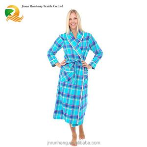 3fc2348807 Plaid Flannel Bathrobe
