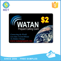 PVC printed scratch card for mobile phones