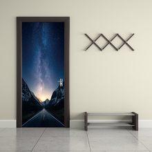 2 шт./компл. 3D осенний кленовый Подсолнух, наклейка на дверь, раздвижные двери, обои, настенная наклейка, украшение для дома, спальни(Китай)