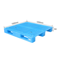 Euro type standard size 1200x1000x150mm plastic pallet