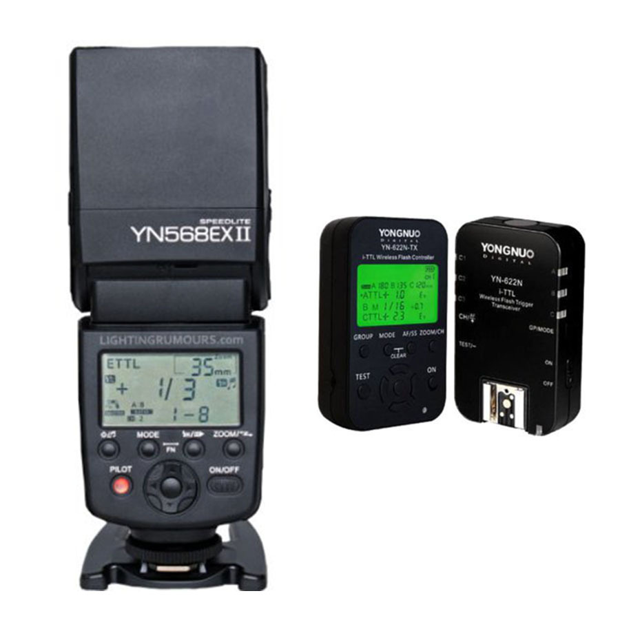 Yongnuo YN-568EX II YN568EX II Flash Speedlite + YN622C-KIT Flash Trigger YN622C-TX Controller YN-622C Transceiver for Canon