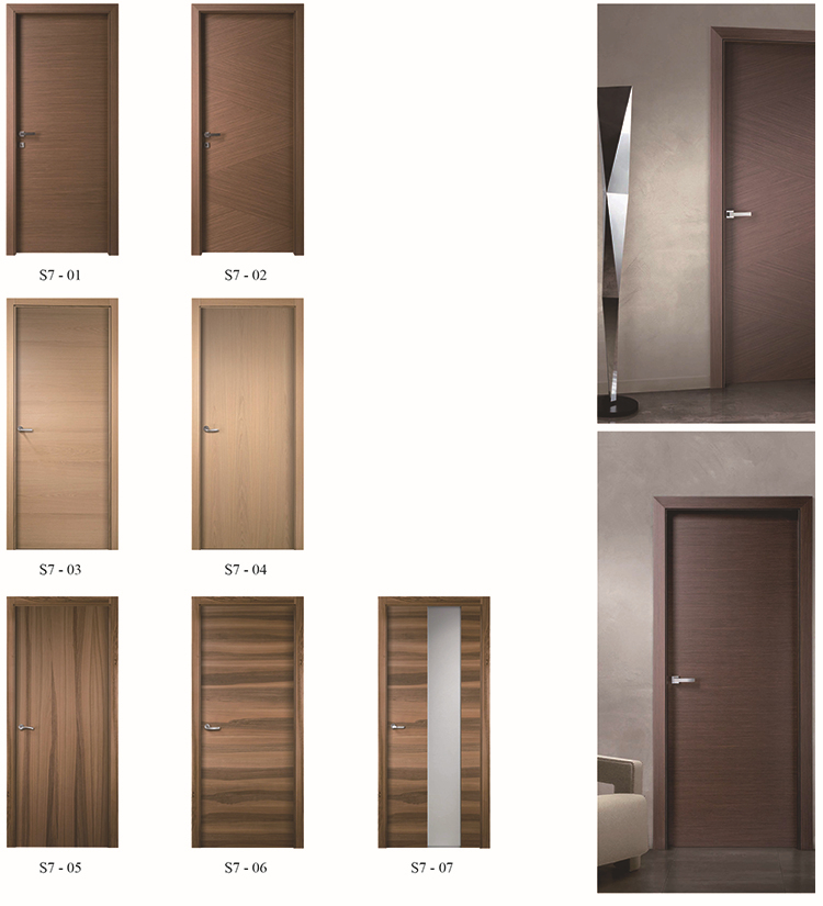 Fancy Flush Veneered Doors for Hotels/Soundproof hotel door
