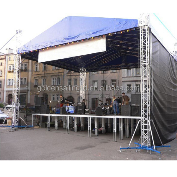 Assembling stage truss roof for event stage buy for Where to buy trusses