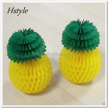 Pineapple Honeycomb Decorationtissue Paper Craft Honeycomb Core