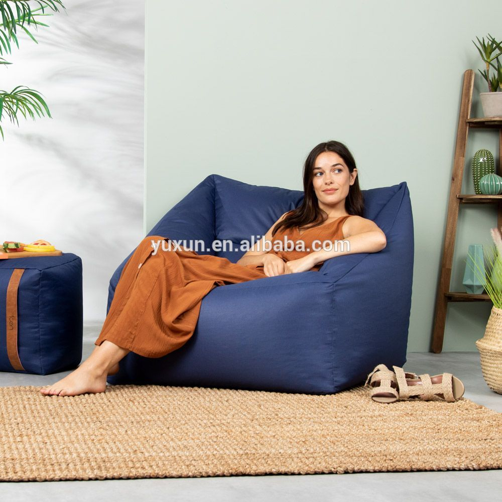 2019 new style waterproof army green bean bag corner square sofa armchair