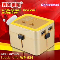 2014 top sale high quality world travel adapter violin shaped gifts