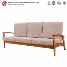 Contemporary living room sofa furniture sets modern wooden settee