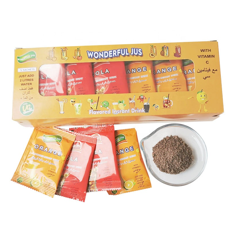 Cheaper Instant <strong>foods</strong> and drinks Cola Flavor Drink Porwder Mix in Sachets Package