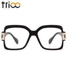 97eccf46f424 TRIOO Mens Cool Myopia Glasses Frame Designer Clear Lens Spectacle Eyewear  Frames Black Square Thick Eyeglasses