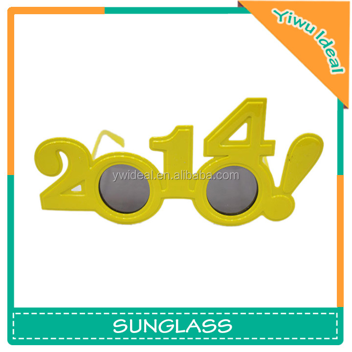 OEM Yellow Funny Plastic Wear 2014 Party Glasses