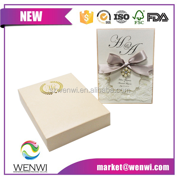 wedding designs handmade love decoration greeting card with ribbon