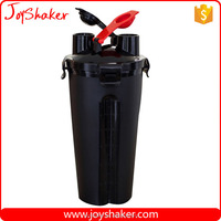 24oz Top Joyshaker Black Color Bottle For Protein Shakes, BPA Free Plastic Dual Shaker Bottle