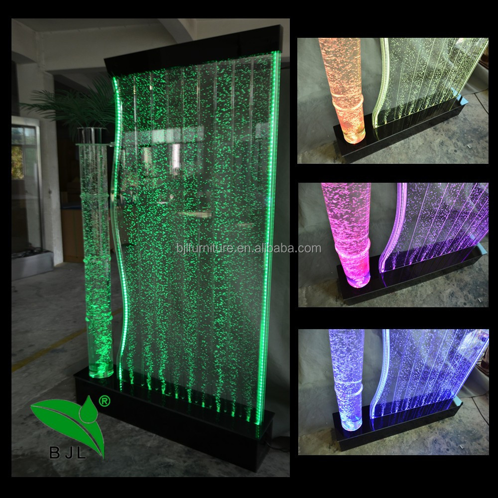 Light Up Furniture Indoor Water Feature,decor Water Bubble Wall Led  Changing Lights