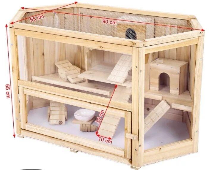 Jaula/jaulas para hámster de madera Natural china para mascotas gerbil