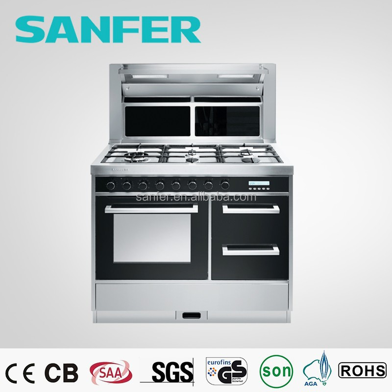 freestanding intergrated cooker include Range Hood Gas Hob Electric Oven and Cabinet