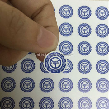 Round dia 20mm custom screw warranty seal sticker made by professional adhesive label manufactures