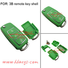 Green Car key 3 Buttons Remote VW key shell for proton flip key