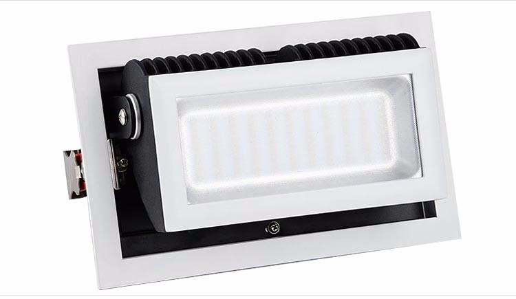 Powerful indoor adjustable dimmable rectangular led downlight