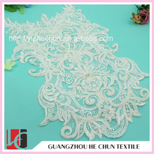 HC-2237 Hechun wholesale beaded applique designs for bridal