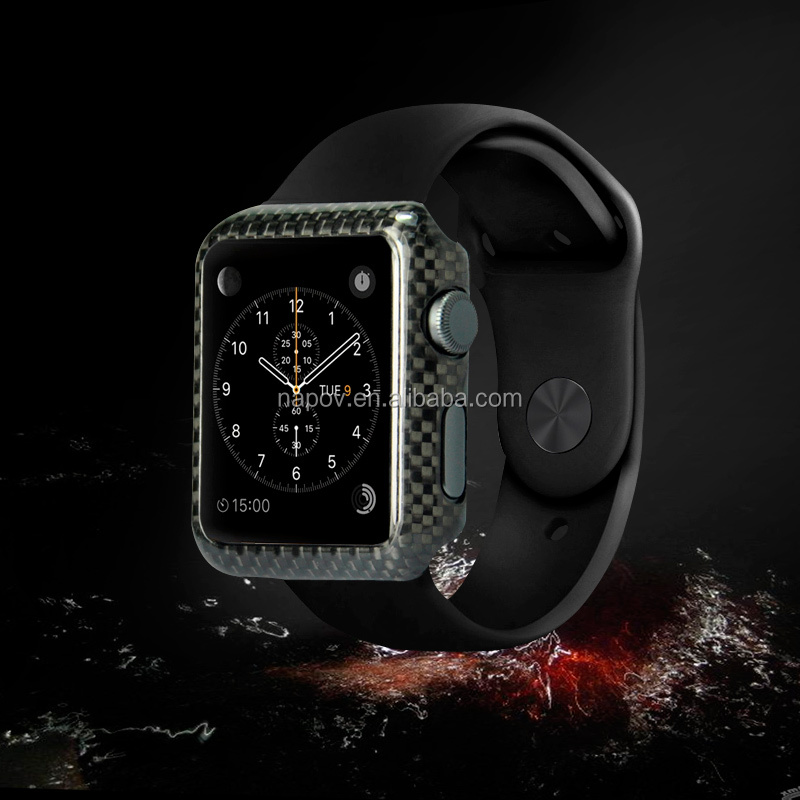 High Quality 100% Real Carbon Fibre Cover Case For Apple Watch ...