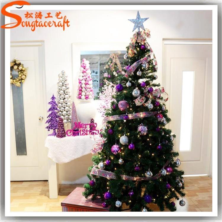 Felt Decor Christmas Tree Flat Metal Christmas Ornaments ...