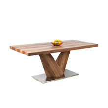 Latest designs of solid wood dining tables