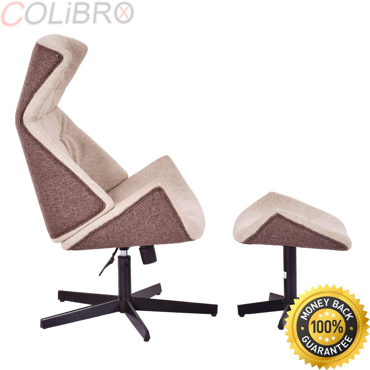 COLIBROX--New Executive Chair Lounge Leisure Chair Adjustable Height Swivel w/Ottoman. adjustable chair height. leather executive office chair high back. best counter height office chair amazon.