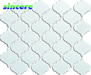 black and white color lantern mosaic tile