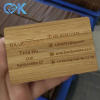 Custom made logo and painted color wooden business card is selling with best price