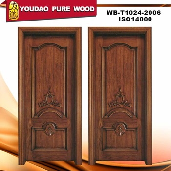 Solid wooden single main door design buy wooden single for Single main door designs