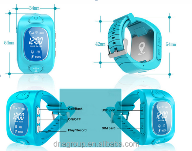 Kid watch with phone calling, kids cell phone watch with sos button, kids gps watch phone with monitoring