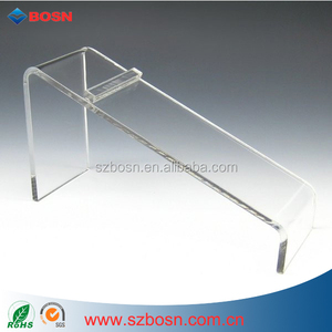 Slant Style Shoe Riser Displays Perspex Shoe Holder Clear Acrylic Shelf