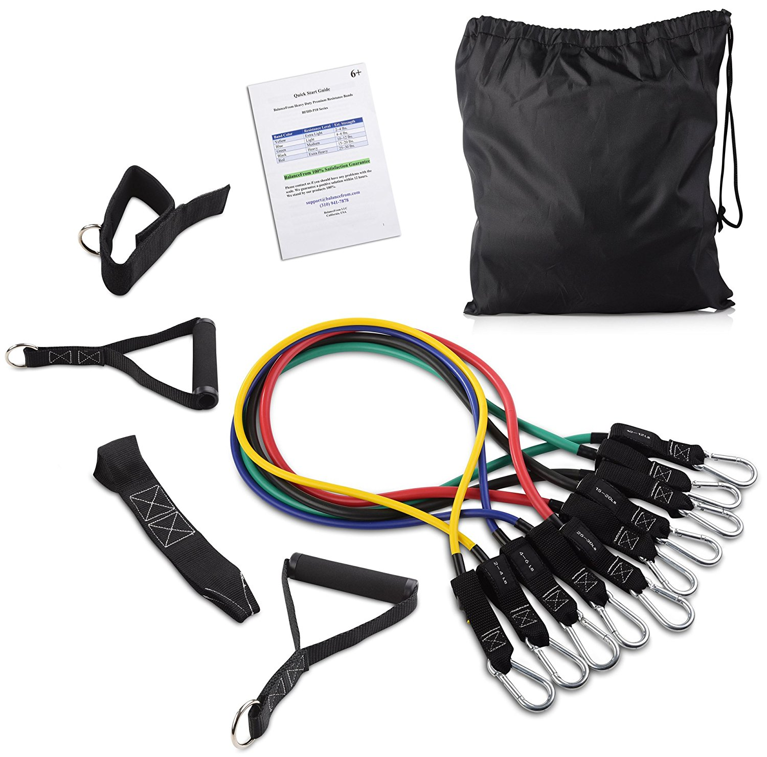 BalanceFrom Gofit All-Purpose Exercise Kit (Resistance Bands, Resistance Loops, Jump Rope and Exercise Sliders)