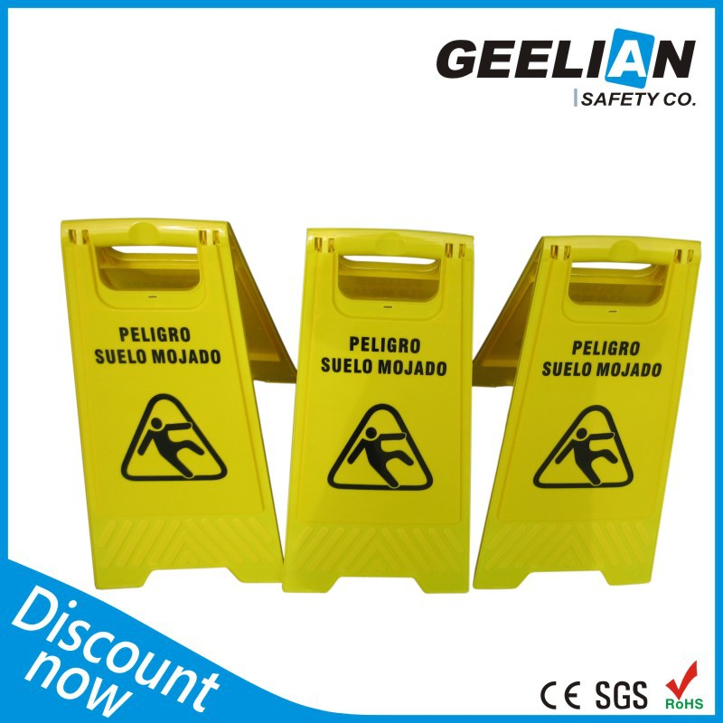 high quality Warning Sign Board A shape plastic signal boards